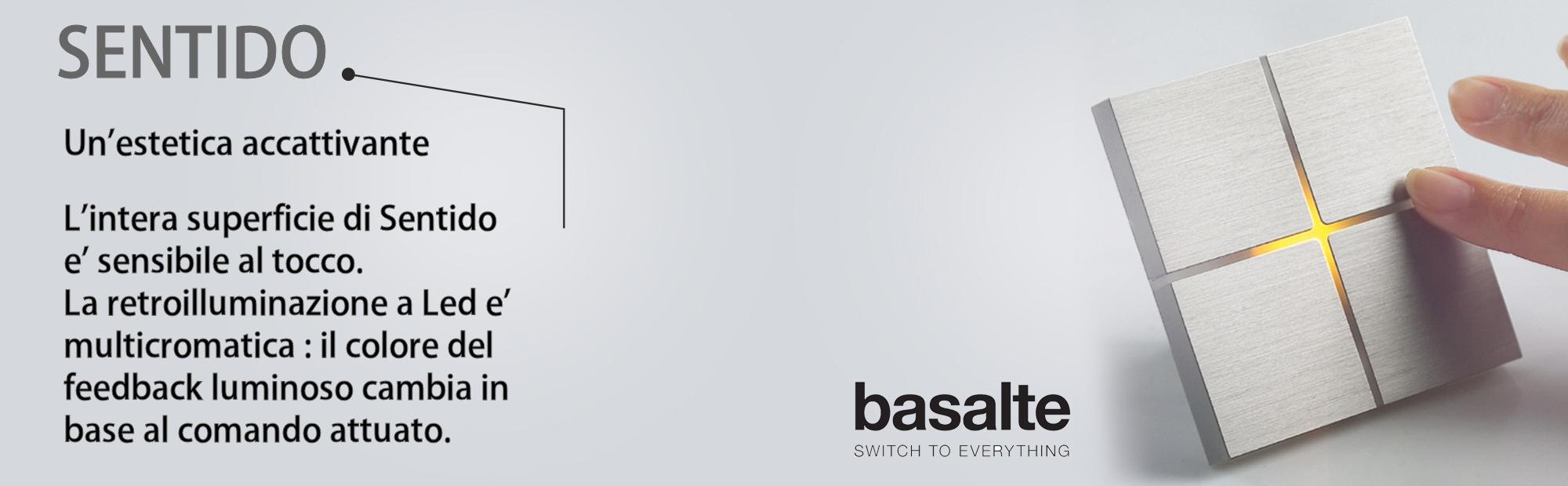 Domotica sentido basalte touch sensitive