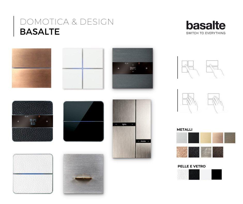 Catalogo pulsantiere domotiche Basalte